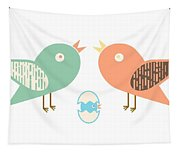 Birds And Egg Tapestry