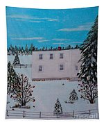 Birds Berries And November Snow Tapestry