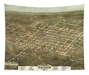Bird's Eye View Of The City Of Raleigh, North Carolina 1872 Tapestry