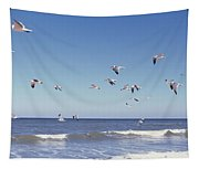 Birds Flying Over The Sea, Flagler Tapestry