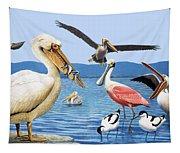 Birds With Strange Beaks Tapestry