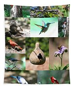 Birdsong Nature Center Collage Tapestry