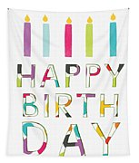 Birthday Candles- Art By Linda Woods Tapestry