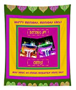 Birthday Girl's Birthday Wishes Tapestry