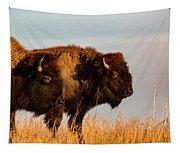Bison Pair Tapestry