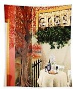 Bistro Mural Detail 2 Tapestry