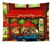 Bistro On Greene Avenue In Montreal Tapestry