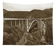 Bixby Creek Aka Rainbow Bridge Bridge Big Sur Photo  1937 Tapestry
