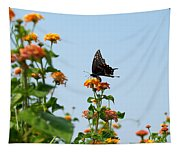Black And Blue Tapestry