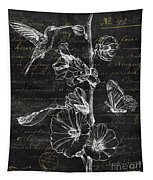 Black And Gold Hummingbirds 2 Tapestry