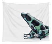 Black And Green Poison Dart Frog Tapestry