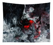 Black And Red Abstract Painting  Tapestry