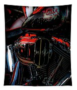 Black And Red Harley 5966 H_2 Tapestry