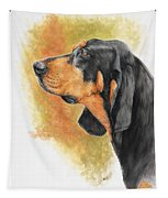 Black And Tan Coonhound Tapestry