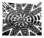 Black And White Abstracts Tapestry