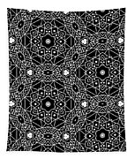 Black And White Boho Pattern 3- Art By Linda Woods Tapestry
