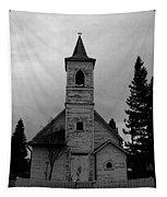 Black And White Church In Williston North Dakota. Tapestry