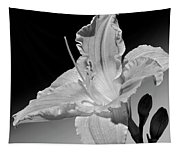 Black And White Daylily Tapestry