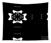 Black And White Flower Abstract Tapestry