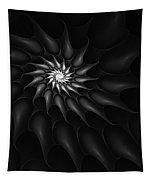 Black And White Fractal 080810c Tapestry
