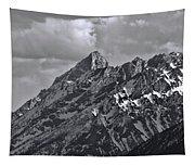 Black And White Grand Teton Detail Tapestry