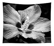 Black And White Hibiscus  Tapestry