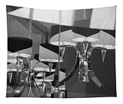 Black And White Lights Tapestry
