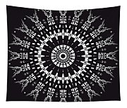 Black And White Mandala No. 1 Tapestry