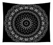 Black And White Mandala No. 2 Tapestry