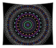 Black And White Mandala No. 4 In Color Tapestry