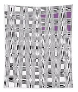 Black And White Metal Panel Abstract Tapestry