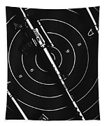 Black And White Military Marksman  Tapestry