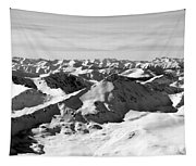 Black And White Of The Summit Of Mount Elbert Colorado In Winter Tapestry
