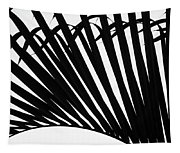 Black And White Palm Branch Tapestry