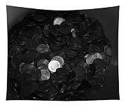 Black And White Pennies Tapestry