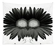 Black And White Petals Tapestry
