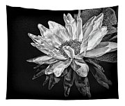 Black And White Reflection Tapestry