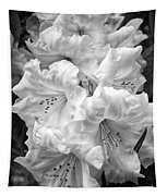 Black And White Rhododendron Tapestry