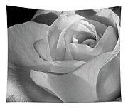 Black And White Rose Tapestry