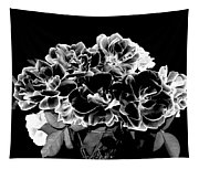 Black And White Roses Tapestry
