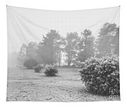 Black And White Snow Landscape Tapestry