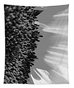 Black And White Sunflower Tapestry
