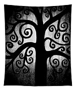 Black And White Tree Tapestry