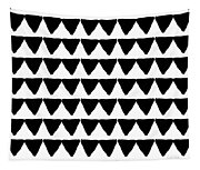 Black And White Triangles- Art By Linda Woods Tapestry