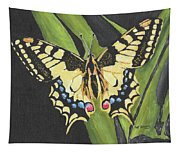 Black And Yellow Butterfly Tapestry