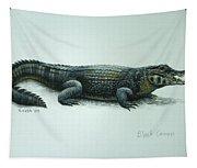 Black Caiman Tapestry