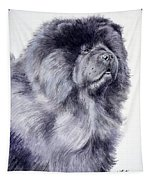 Black Chow Chow  Tapestry