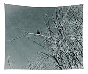 Black Crow White Snow Tapestry