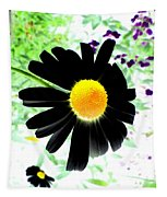 Black Daisy Tapestry