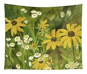 Black-eyed Susans In A Field Tapestry